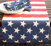 Pottery Barn American Flag Table Runner