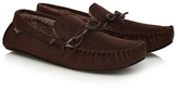 Totes Dark Brown Moccasin Slippers In A Gift Box
