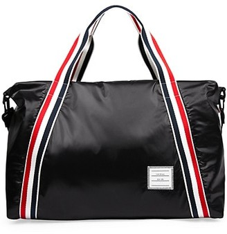 Thom Browne Leather Stripe Webbing Weekend Bag