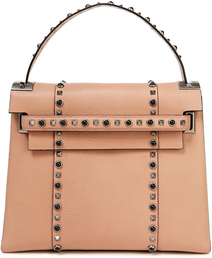 Valentino Rockstud Rolling Pebbled-leather Shoulder Bag