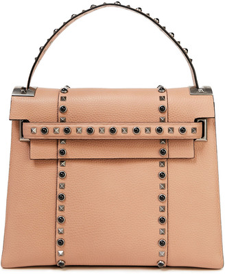 Valentino Rockstud Rolling Pebbled-leather Shoulder Bag