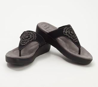 Earth Origins Leather Thong Sandals- Willow Glenda
