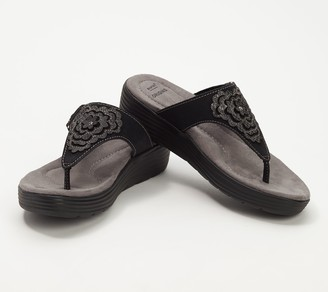 Earth Origins Leather Thong Sandals- Willow Glenda