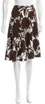 Prada Floral Print Knee-Length Skirt