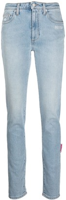 Off-White High-Rise Skinny Jeans