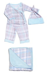 Baby Grey By Everly Grey Wrap Top, Pants, Hat & Blanket Set