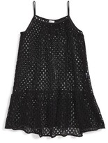Milly Minis Girl's Mesh Cover-Up Dress