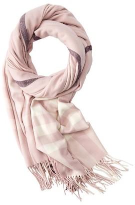 Love & Lore Love And Lore Super Soft Scarf Blush Pink Franci Plaid