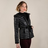 Molly Bracken Short Hooded Padded Jacket with Belt