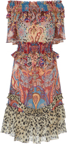 Roberto Cavalli Paisley-Print Georgette Dress