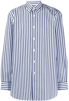 Brioni striped button-down shirt