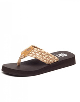 Yellow Box Tan Knit Sandals