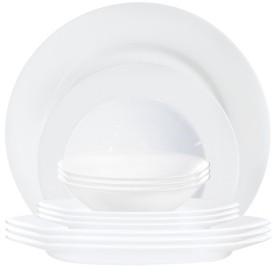 Luminarc Everyday Dinnerware Set White 12pc Set