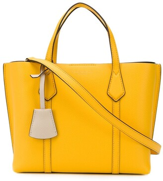 Tory Burch lacquered-edge tote bag