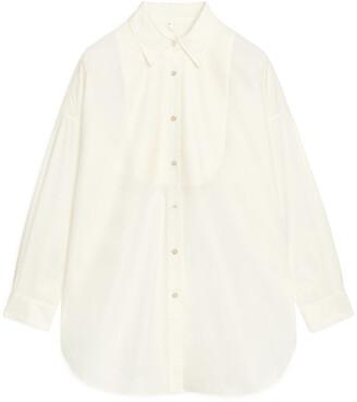 Arket Pintuck Tuxedo Shirt