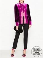 Anna Sui Vintage Velvet Colour Block Top