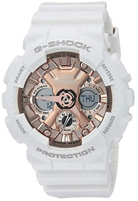 G-Shock GMA-S120MF-7A2CR (White/Pink/Gold) Watches