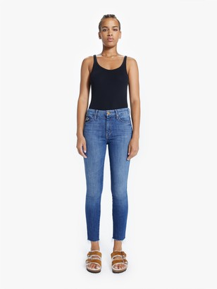 Mother The High Waisted Double Looker Ankle Fray - Fruit Carts