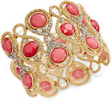 INC International Concepts Gold-Tone Stone and Crystal Filigree Stretch Bracelet, Only at Macy's