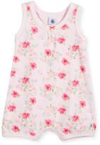 Petit Bateau Sleeveless Floral-Print Playsuit, Size Newborn-6 Months