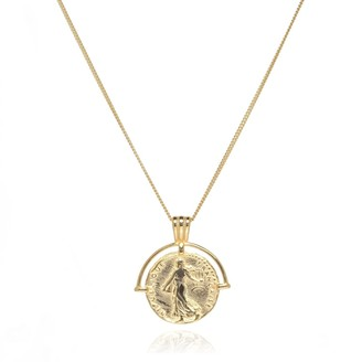 Coco Mango Jewellery Parisian 18K Gold Coin Necklace