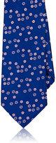 Barneys New York Men's Floral Silk Necktie-BLUE