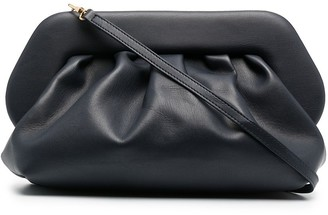 Themoire Gathered Faux-Leather Shoulder Bag