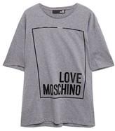 Love Moschino Melange Printed Cotton-jersey T-shirt