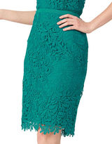 Jacques Vert Leaf Lace Pencil Skirt