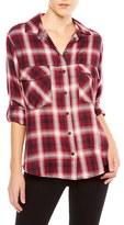 Sanctuary Plaid Flannel Boyfriend Shirt