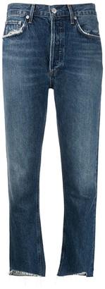 AGOLDE Raw Hem Cropped Jeans