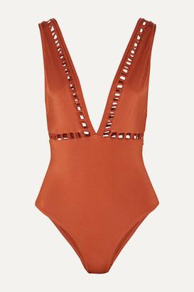 Oye Swimwear OYE Swimwear - Ela Cutout Swimsuit - Camel