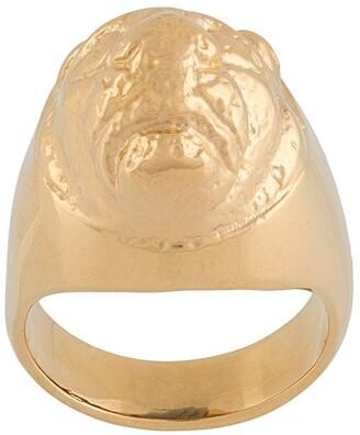 VICTORIA STRIGINI Lions Head signet ring