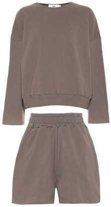 Frankie Shop Jamie cotton sweatshirt and shorts set