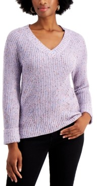 Style&Co. Style & Co Marled Pointelle Sweater, Created for Macy's