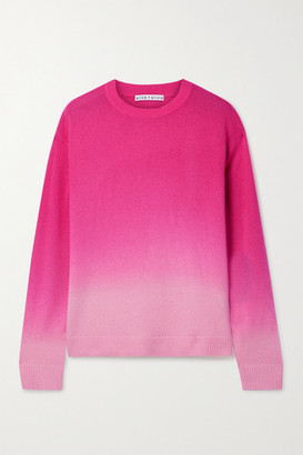 Alice + Olivia Gleeson Ombre Cashmere-blend Sweater - Pink