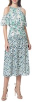 Donna Morgan Women's Cold Shoulder Midi Dress
