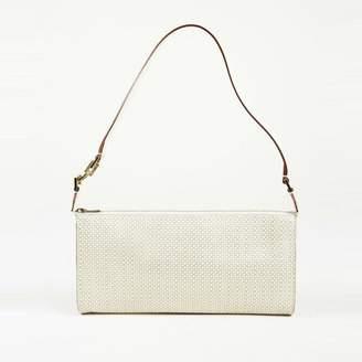 Fendi Pre-Loved Brown Jacquard Fabric Tiger Print Handbag Italy