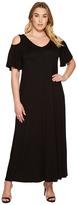 Karen Kane Plus Plus Size Cold Shoulder Maxi Dress