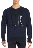 True Religion Pima Cotton Blend Raglan Sweatshirt