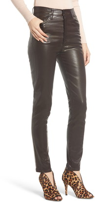 Citizens of Humanity Olivia High Waist Slim Faux Leather Pants
