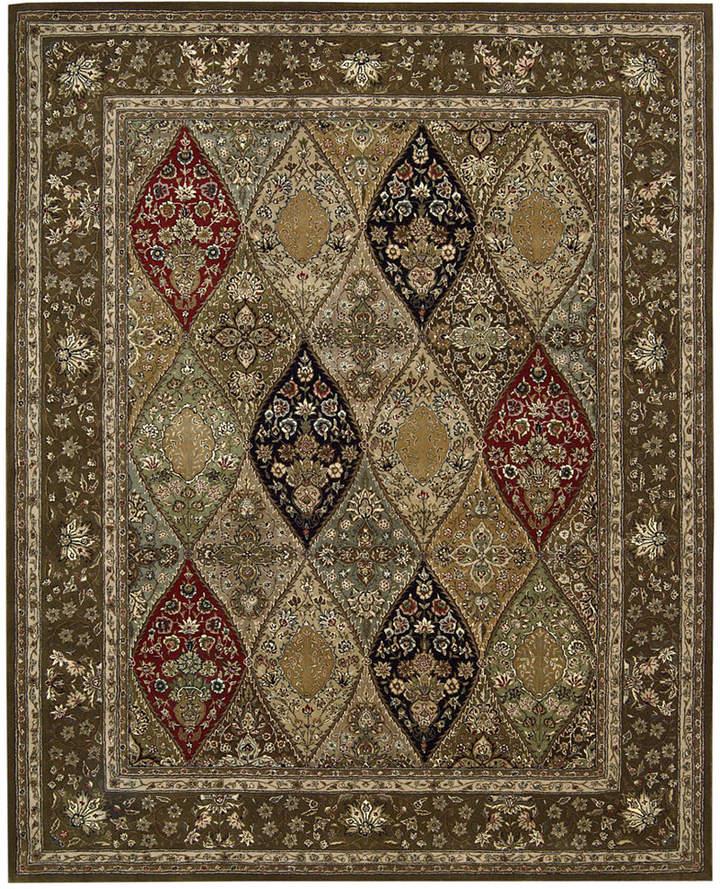 """Nourison Wool & Silk 2000 2292 Multicolor 7'9"""" x 9'9"""" Area Rug"""