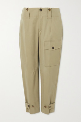 Chloé Cotton-blend Canvas Straight-leg Cargo Pants - Green