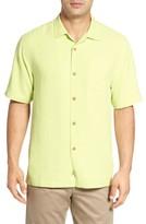 Tommy Bahama Men's Big & Tall Rio Fronds Short Sleeve Silk Sport Shirt