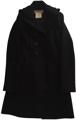 Charles Anastase Black Wool Coat for Women