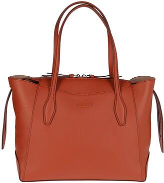 Tod's Logo Embossed Medium Shopping Bag