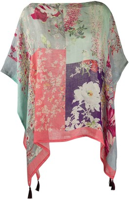 Etro Floral-Print Poncho