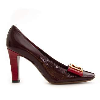 Louis Vuitton Burgundy Patent leather Heels