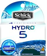 Schick Hydro 5 Razor Blade Refills for Men with Flip Trimmer - 4 Count