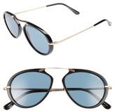 Tom Ford Women's 'Aaron' 53Mm Sunglasses - Dark Havana/ Green